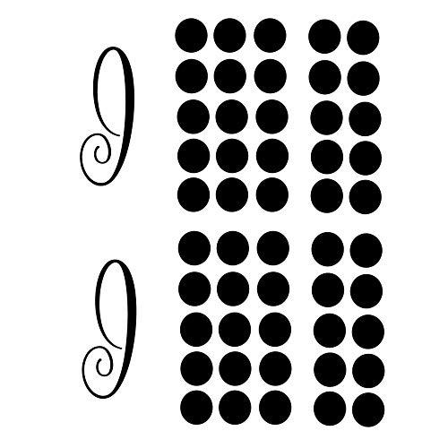 CustomVinylDecor Farmhouse Monogramm Decor Oder Hochzeiten Vinyl Wand Aufkleber-2Sets von Familie Abkürzung Buchstabe J und Polka Dots