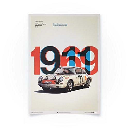 Automobilist Porsche 911R - Tour de France - Einzigartiges Design, Limitierte Auflage Poster - Standard Poster Format 50 x 70 cm
