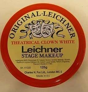 Leichner Blanc de clown Fond de teint blanc 125g