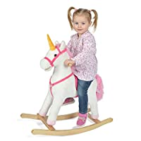 Pink Papaya Rocking Horses and Unicorns for Children, Rocking animal with Sound, Different Sizes, Colours, Patterns...