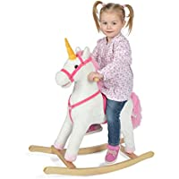 Unicornio balancín Fiona de la marca Pink Papaya, animal balancín de peluche para niños con