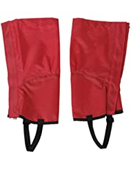 ZCSMg 1 pair Waterproof Outdoor Hiking Climbing Snow Sand Legging Gaiters Leg Covers (M Size,Red)