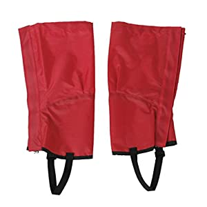 41CkBxvFleL. SS300  - ZCSMg 1 pair Waterproof Outdoor Hiking Climbing Snow Sand Legging Gaiters Leg Covers (M Size,Red)
