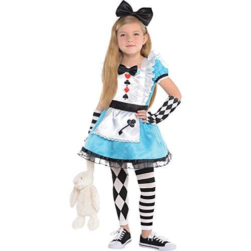 Amscan Kinder Alice Im Wunderland Mädchen Buch Tag Kostüm Verkleidung - Mehrfarbig, EU 128-140 (Alice Im Wunderland Kinder Kostüm)