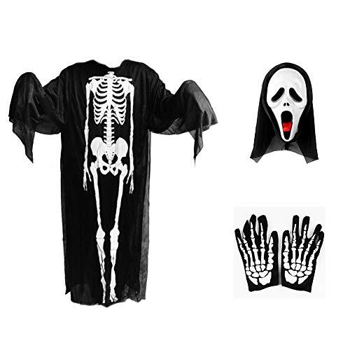 kelett Kleid, Geist Kostüme Maske Handschuhe, 120cm ()