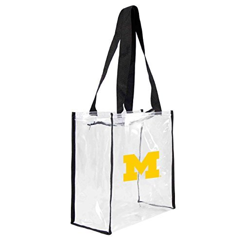 ncaa-michigan-wolverines-square-stadium-tote-115-x-55-x-115-inch-clear-by-littlearth