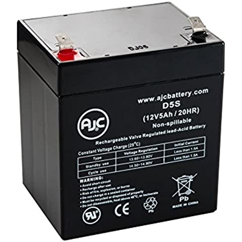 Batteria per Gruppo di continuità APC 2200VA RM 2U LCD 120V 12V 5Ah - Ricambio di marca AJC®