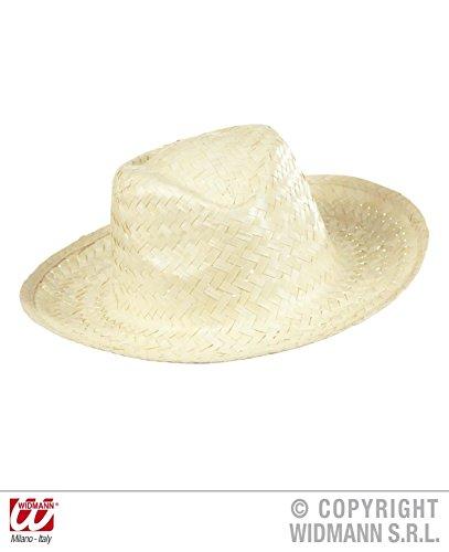 STROHHUT - COWBOY - 59 cm, Hut Hüte Event Party Karibik Strandparty Strandfest (Cowboy Hut Helm)