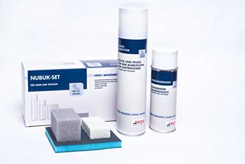 Leder Pflege Set für Rauleder und Nubukleder | inkl. Nubuk-Radierer, Schwamm & Schleifpad (Handtaschen Leder Schokolade Tasche)