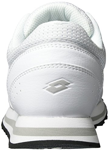 Lotto Sport Trainer Ix Lth W, Sneakers Basses Femme Blanc (Wht/gry Lun)