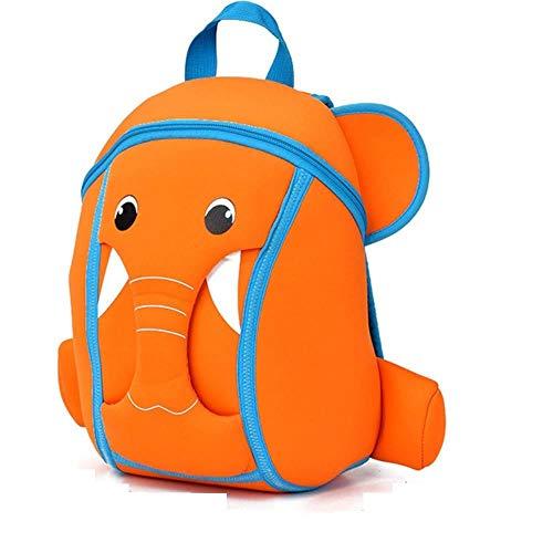 Mochilas Escolares para niños Niños Mochilas Escolares Lindas de Cebra para niños Mochila Infantil Mochila Infantil, Elefante Naranja