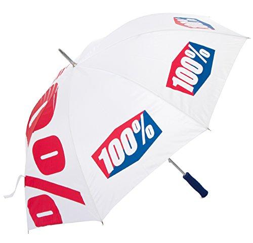 100% Regenschirm Umbrella Weiß