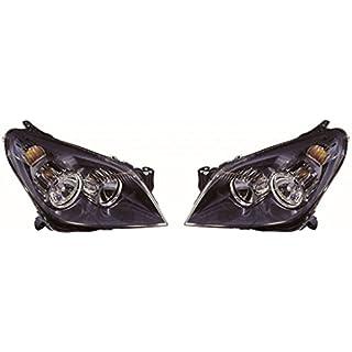 Astra H Mk5 SRi 2004-2007 Black Front Headlight Headlamp Pair Left & Right