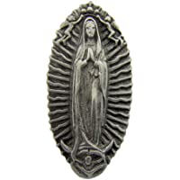 Travel Protection Our Lady Guadalupe Spanish Icon 2 1/4 Inch Pewter Auto Car Visor Clip by Religious Gifts