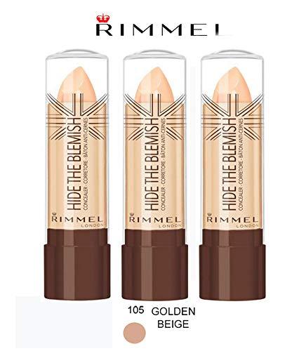 Kit 3Stück Rimmel Hide The Blemish Concealer in Stick 4,5g 105Golden Beige -