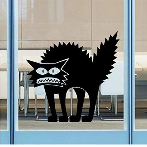 Wandaufkleber Heimgebrauch Schwarze Farbe Halloween Katzen Abnehmbare Vinylwand Tür Fenster Halloween Katze Removable Home Decor 2019 (Halloween Wallpaper 2019)