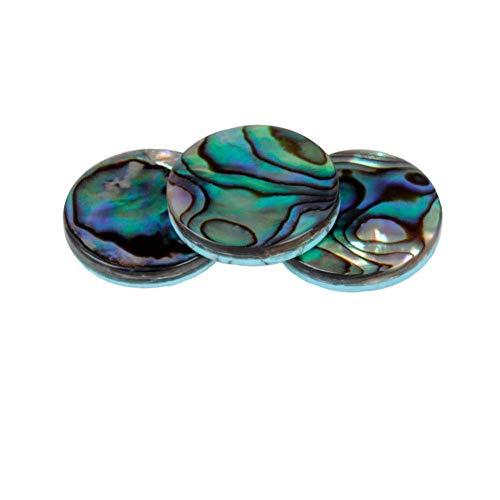 Dilwe 3 Pcs Trompete Finger Tasten, Bunte Abalone Shell Fingerschlüssel Tasten Set für Trompete Ersatzteile Zubehör