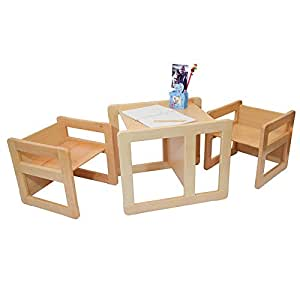 3 in 1 children 39 s multifunctional furniture set of 3 two - Table chaise pour enfant ...