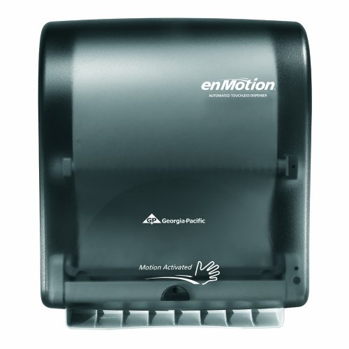 georgia-pacific-enmotion-59462-classic-automated-touchless-paper-towel-dispenser-translucent-smoke-b