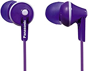 Panasonic RP-HJE125E-V In-Ear (Drei Paar Pass-Stücke, 10-24.000 Hz, 1,1 m Kabel) violett