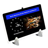 DayClocks Seniorenuhr 10″ inkl. Kalender und (Sprach-)Nachrichten- & Foto-Funktion (6 Monate gratis) - Digitale, sprechende Uhr, Wecker, Kalender & Tablet für Senioren & Demenzkranke (z.B Alzheimer) mit Erinnerungsfunktion
