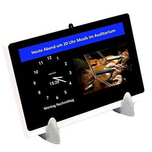 DayClocks Seniorenuhr 10″ inkl. Kalender und (Sprach-) Nachrichten- & Foto-Funktion - Digitale...