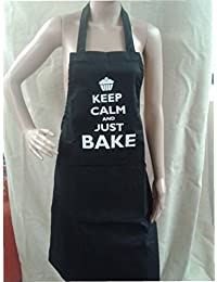 Aprons, 'Keep Calm and Just Bake!' (Black)