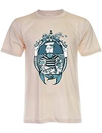 PALLAS Unisex's Beard Vintage Sailor T-Shirt