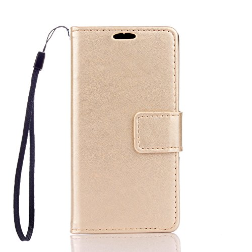 "Sony Xperia Z5 Mini/Compact Case, Cozy hut PU Leather Wallet Case for Sony Xperia Z5 Mini/Compact Flip Case Bookstyle Cover Premium Quality Leather Pure Gold Wallet Case Shell PU Cell Phone Holster with Hand Strap Stand Function Credit Card Slots Magnet Closure Anti-Drops Dustproof Protective Shell for Sony Xperia Z5 Mini/Compact 4,2"" - gold Test"