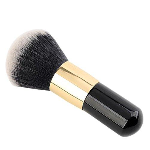 ♥Xjp 1pcs grosse poignée noire en bois brosse à maquillage blush de beauté♥