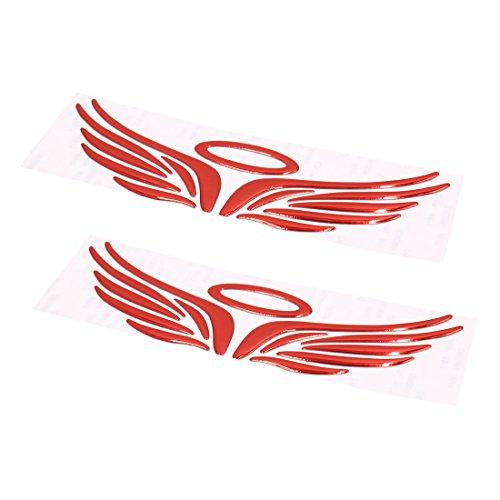 �gel Muster Auto 3D Reflektierend Aufkleber Styling Sticker (Halo Flügel)