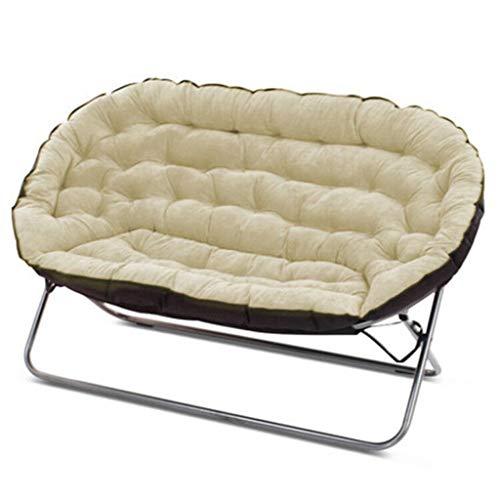 Lazy Couch Double Tatami Einfache Casual Schlafzimmer Wohnzimmer Kleine Wohnung Single Folding Fabric Kleine Schlafsofa weich und komfortabel (Farbe : Beige)