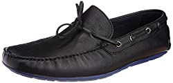 Arrow Mens Leather Loafers (8904210230399_DENIAL_9 UK_Black)-9 UK/India (43 EU) (10 US)