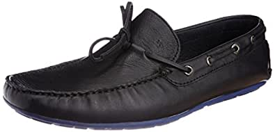 Arrow Men's Leather Loafers (8904210230399_DENIAL_9 UK_Black)-9 UK/India (43 EU) (10 US)