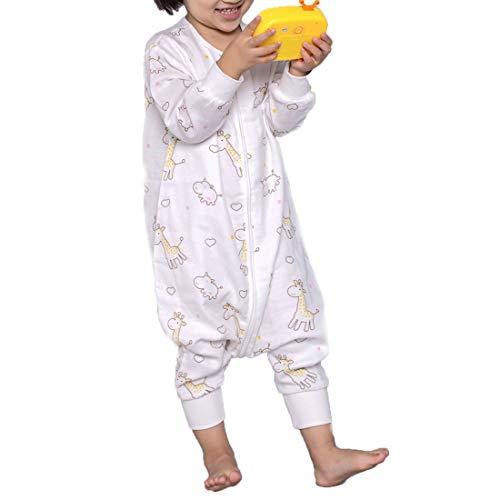 XIAOYAO Baby Schlafsack,Schlummersack Ganzjahres Schlafsack mit Beinen (B 90-100CM, Angel)