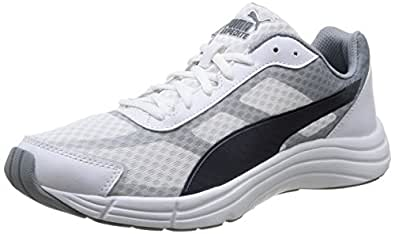 Puma Men's Expedite White-Tradewinds-Turbulence Mesh Running Shoes - 13UK/India (48EU)
