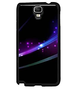 FUSON Designer Back Case Cover for Samsung Galaxy Note 3 Neo :: Samsung Galaxy Note 3 Neo Duos :: Samsung Galaxy Note 3 Neo 3G N750 :: Samsung Galaxy Note 3 Neo Lte+ N7505 :: Samsung Galaxy Note 3 Neo Dual Sim N7502 (Black Dark background Lights shine Fine arts)