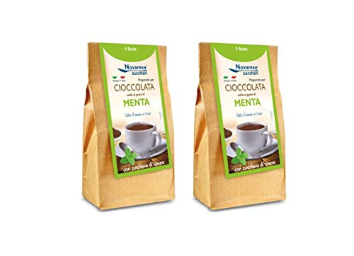 Chocolate Caliente - Sabor a Menta - 10x25g - 250g - Novarese Zuccheri