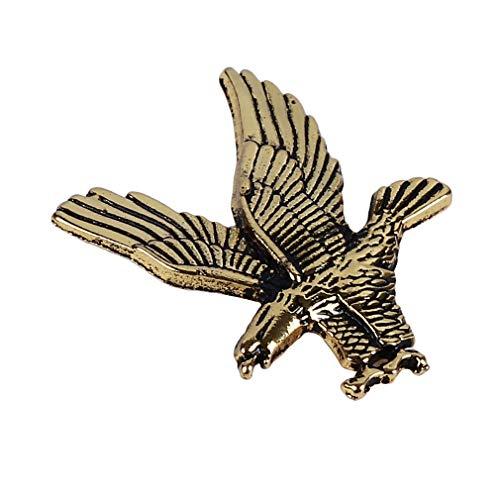 LIXIAQ1 Fliegende Adler Pin Abzeichen Brosche Vintage Pullover Schal Clip Lady Schmuck Tasche Ornament, Gold