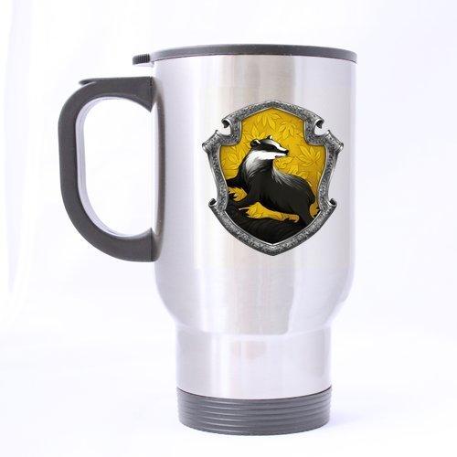 Logo de la maison Poufsouffle Motif Harry Potter, tasse de voyage étanche Design Coffee Mug personnalisé créative Sport-Tasses À Thé 14 oz