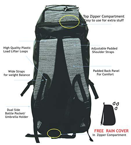 POLESTAR Flyer Black 55 ltrs Rucksack for Hiking Trekking/Travel Backpack Image 3