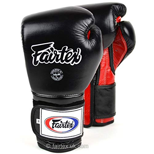 Fairtex Boxing Gloves BGV9stile messicano nero rosso sparring Muay Thai kickboxing venduto da Minotaurfightstore, 16 oz