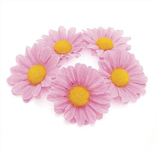 Gizzy pour femme fille Rose Daisy soyeux Cheveux Fleur élastique Chignon de finition.