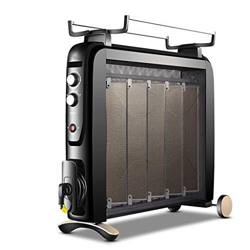 Jia He Calentador Calentador eléctrico Mica Panel Convection Heater 4 Fuentes de...