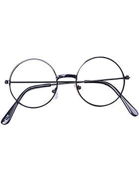 Hibote Redondo Gafas para niños - Gafas de lentes transparentes marco Geek/Nerd gafas con forma de coche gafas...