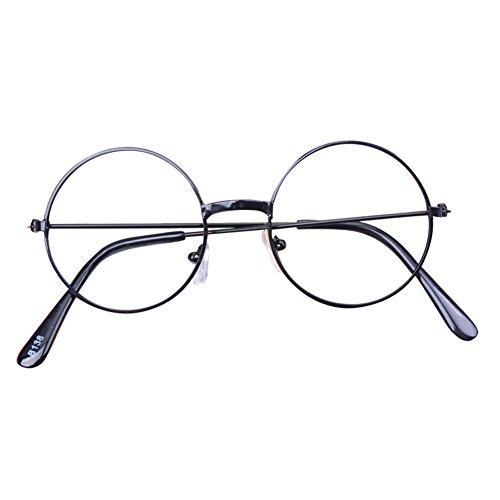 Rund Retro Gläser für Kinder - Jungen und Mädchen Keine Objektive Gläser Metall Brillenfassung Klassisches Brille mit Auto Form Brillenetui