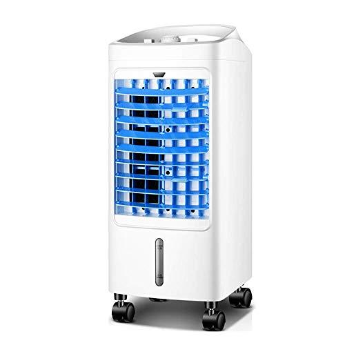 HHOO - Kühler THS@ Tragbarer LuftküHler KlimaanlagenlüFter Einfache Mechanische Steuerung 4,5-Liter-Wassertank Geeignet füR Den Heim- Oder BüRobereich Weiß + Blau 75W -