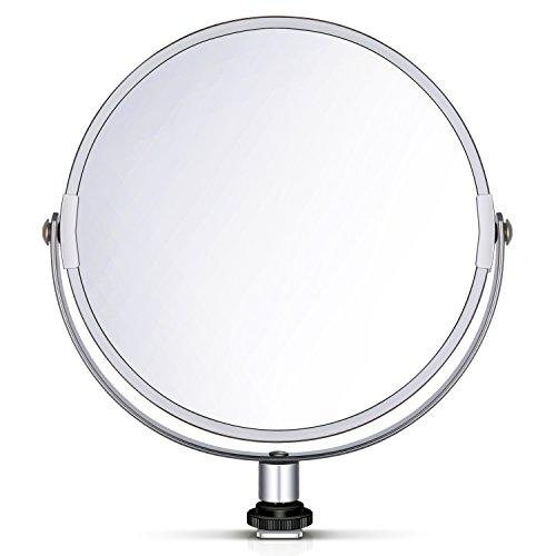 Neewer - Espejo de Maquillaje Circular de Doble Cara con Adaptador para lámpara de Anillo de 18 Pulgadas...