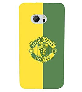 For HTC 10 :: HTC One M10green yellow icon, icon, green yellow background Designer Printed High Quality Smooth Matte Protective Mobile Case Back Pouch Cover by APEX