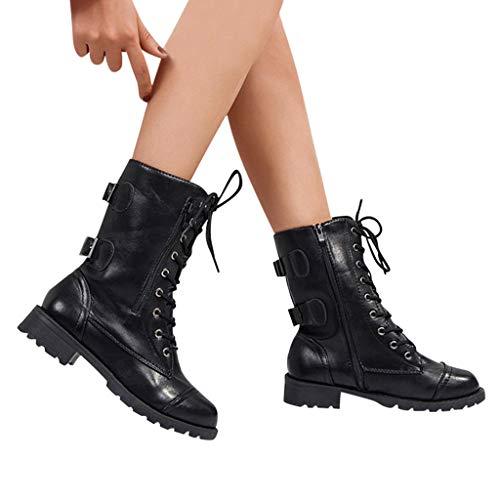 TianWlio Frauen Herbst Winter Stiefel Schuhe Stiefeletten Boots Stiefel Art und Weisefrauen...
